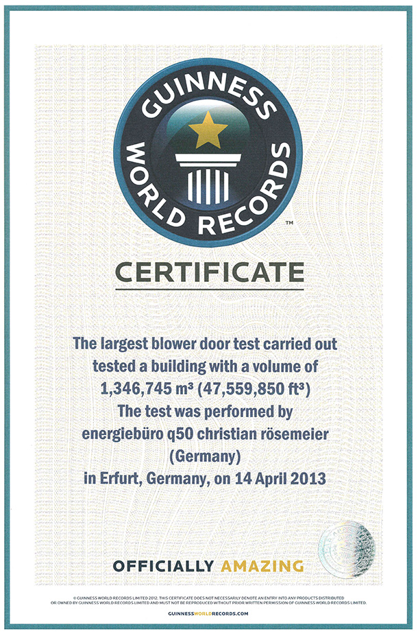 The Guinness World Record Certificate